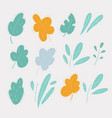 floral plant elements leaves twigs a bush vector image