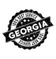 georgia best service stamp with grungy style vector image