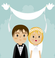 grooms and wedding 3 vector image vector image