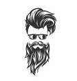 hairstyles with beard mustache sunglasses vector image vector image