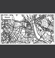 hanoi vietnam city map in black and white color vector image vector image