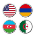international flag icon vector image vector image