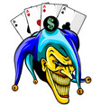 joker angry jester in cap tattoo vector image vector image