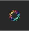 letter o logo monogram dash and dot broken lines vector image