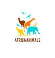 logo african animals vector image vector image