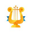 lyre golden music award on a vector image