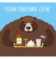 National Folk Food in Russia Russian national vector image