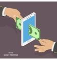 Online money transfer isometric vector image vector image