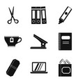 outwork icons set simple style vector image vector image