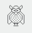 owl pixel icon in the vector image