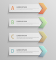 paper infographic51 vector image vector image