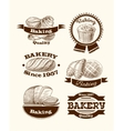 Pastry and bread signs vector image vector image
