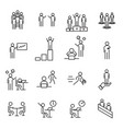 people in workplace thin line icon set office vector image