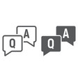 question and answer line and glyph icon vector image