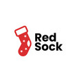 red sock logo icon vector image