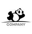 resting panda logo vector image
