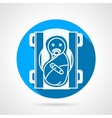 Round blue icon for newborn vector image
