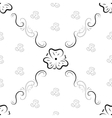 Seamless background from floral ornament vector image