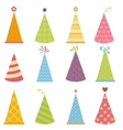 set colorful party hats vector image vector image