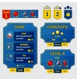 set game ui interface screens in sewing stile vector image