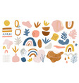 set hand drawn various shapes and doodle design vector image