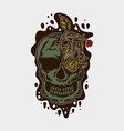 skull and flower vector image vector image