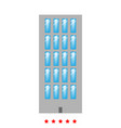 sky tower building icon flat style vector image vector image