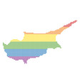 spectrum dotted lgbt cyprus island map vector image