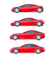 sport muscle car red flat Icon vector image vector image