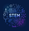 stem concept colored circular outline vector image vector image