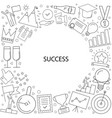 success background from line icon vector image vector image
