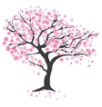 tree in the wind cherry vector image vector image