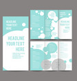 Tri-fold Brochure and Catalog Concept vector image