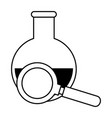 tube test with magnifying glass vector image
