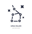 ursa major icon on white background simple vector image vector image