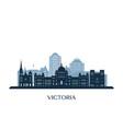 victoria skyline monochrome silhouette vector image vector image