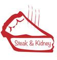 warm steak and kidney pie vector image vector image