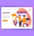 web design website mobile app ui development vector image vector image