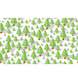 winter seamless forest plan pattern map vector image vector image
