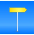 Yellow road sign vector image vector image