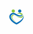 people love care together logo vector image