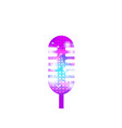 karaoke microphone isolated on white background vector image