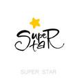 super star lettering vector image
