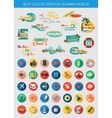Big collection of summer typographical elements vector image