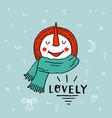 christmas snowman enjoying snow funny cartoon vector image