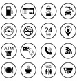 16 gas station icons Fuel isolated icons vector image vector image
