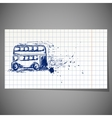 a hand-drawn double-decker bus vector image