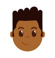 african boy head emoji personage icon with facial vector image vector image