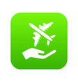 air passenger protection icon green vector image