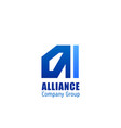 alliance company group emblem vector image vector image